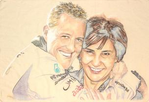 Michael Schumacher and Michelle Mouton