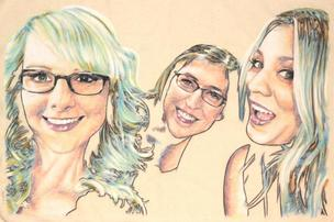 Melissa, Mayim and Kaley