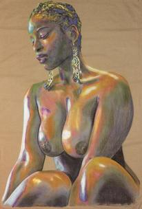 Brown nude on brown fabric