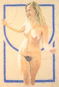 Nude with border