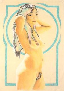 Asian nude with border