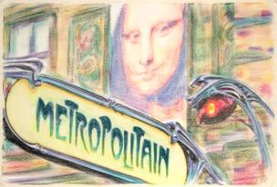 Metropolitain sign from Paris