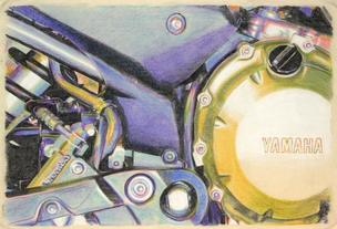 Yamaha Engine in Blue